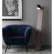 Lampadaire Fletcher, 148 cm, noir, 25 W