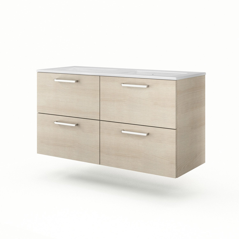 meuble vasque d cor imitation ch ne clair neo line leroy merlin. Black Bedroom Furniture Sets. Home Design Ideas