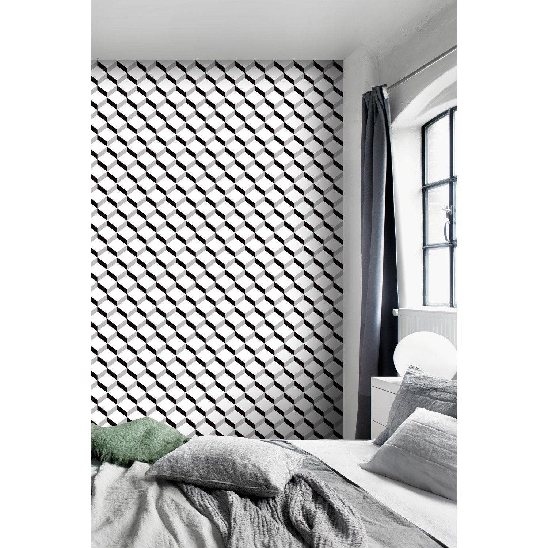 papier peint intiss cube 3d beige leroy merlin. Black Bedroom Furniture Sets. Home Design Ideas