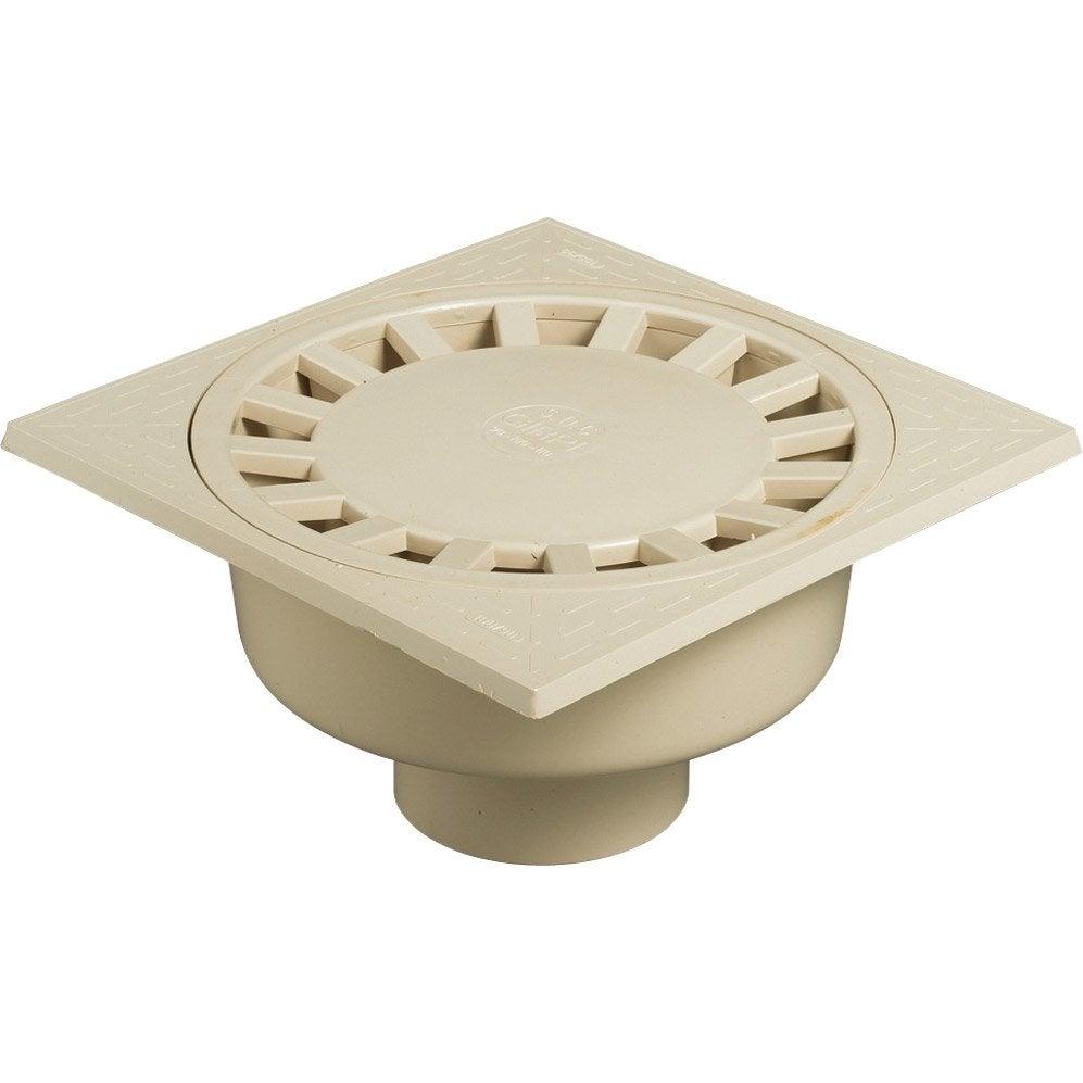 siphon de cour en pvc girpi sable x cm leroy. Black Bedroom Furniture Sets. Home Design Ideas