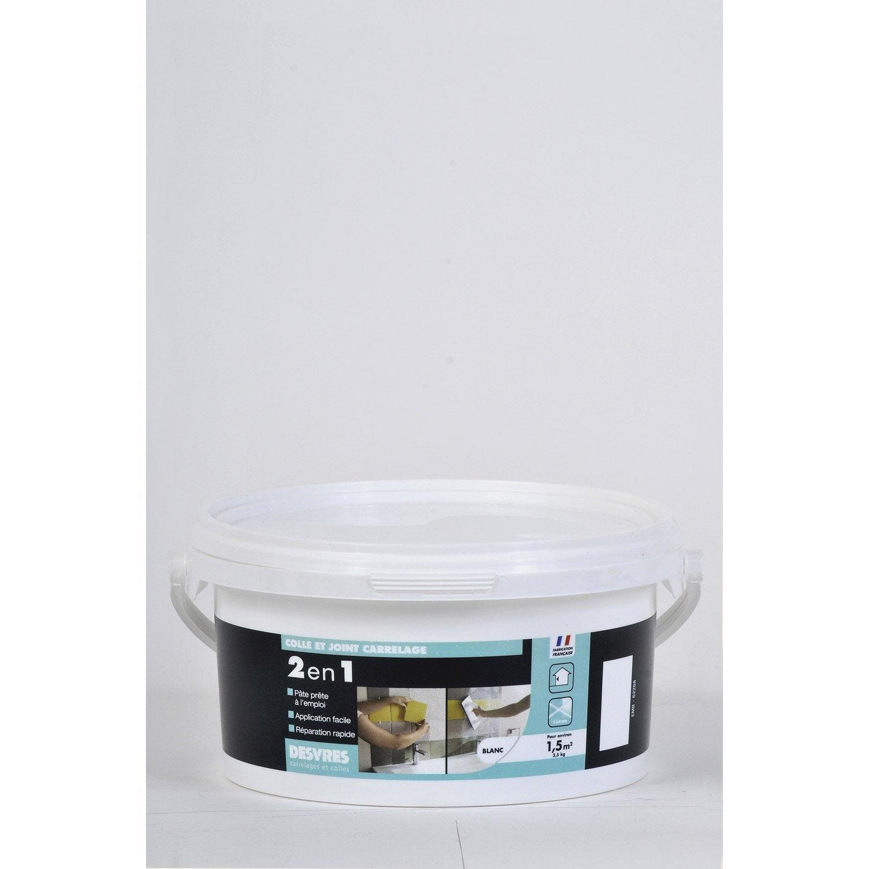 colle et joint 2 en 1 pour carrelage et mosa 239 que desvres blanc 3 5kg leroy merlin