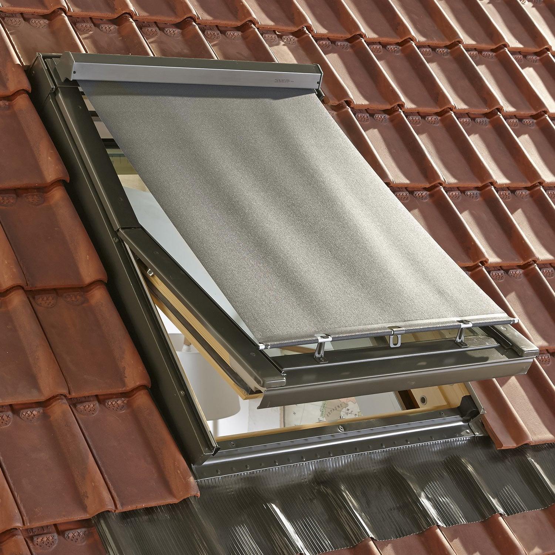 Store fen tre de toit pare soleil ext rieur mz noir pour for Tringle pour fenetre de toit