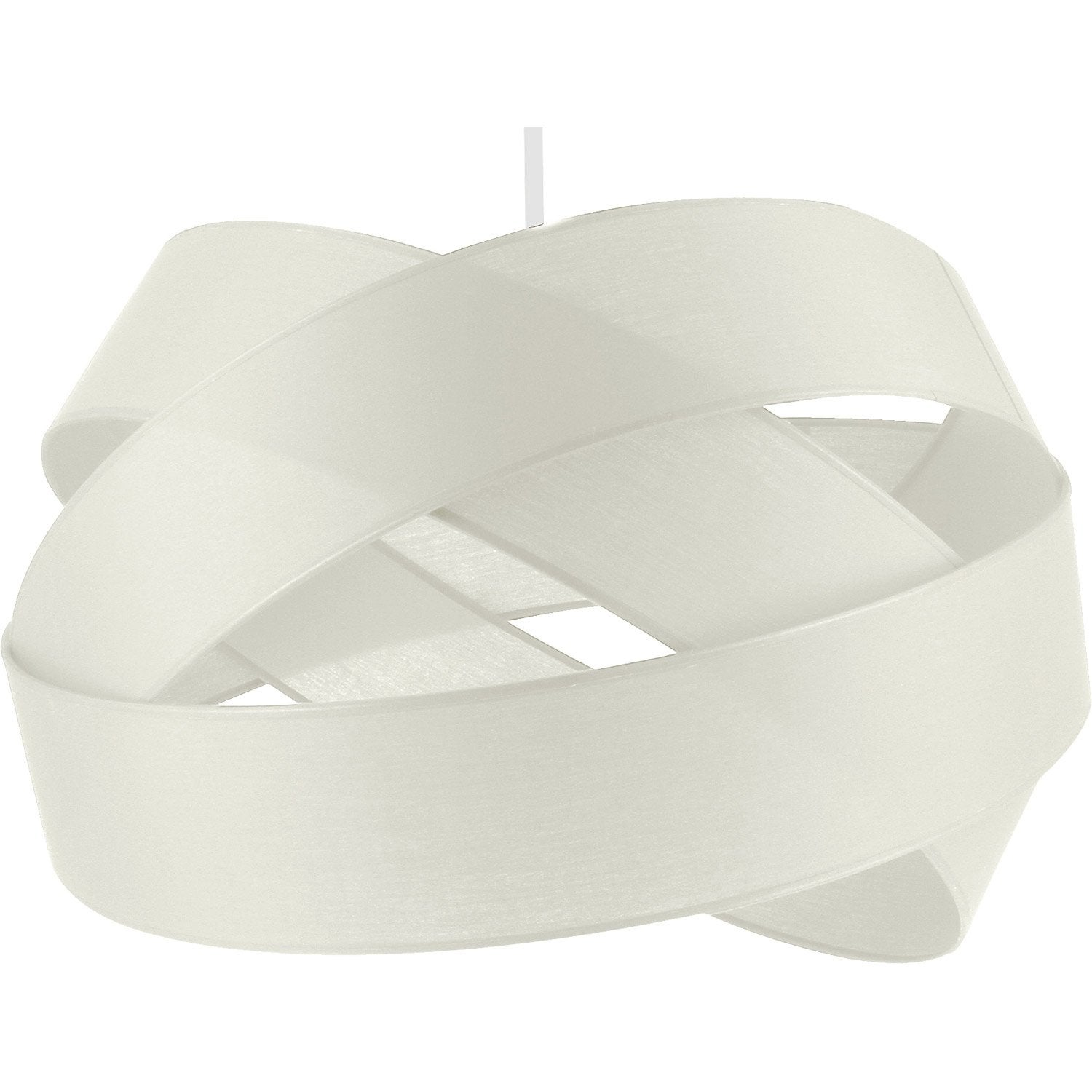 Suspension contemporain bijou gm coton blanc blanc n 1 1 x - Suspension luminaire leroy merlin ...