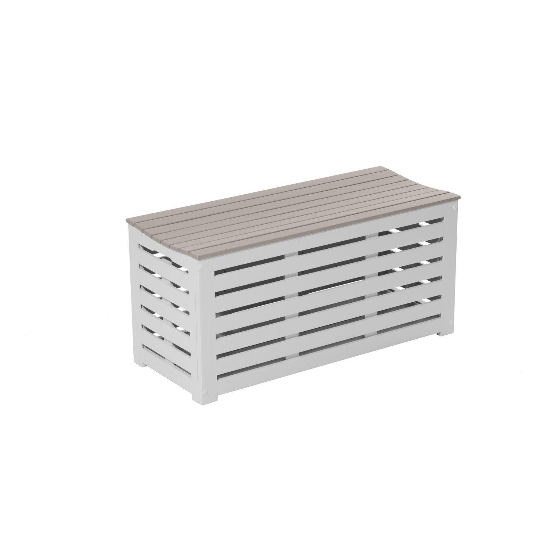 banc 2 places de jardin en bois burano argile douce leroy merlin. Black Bedroom Furniture Sets. Home Design Ideas