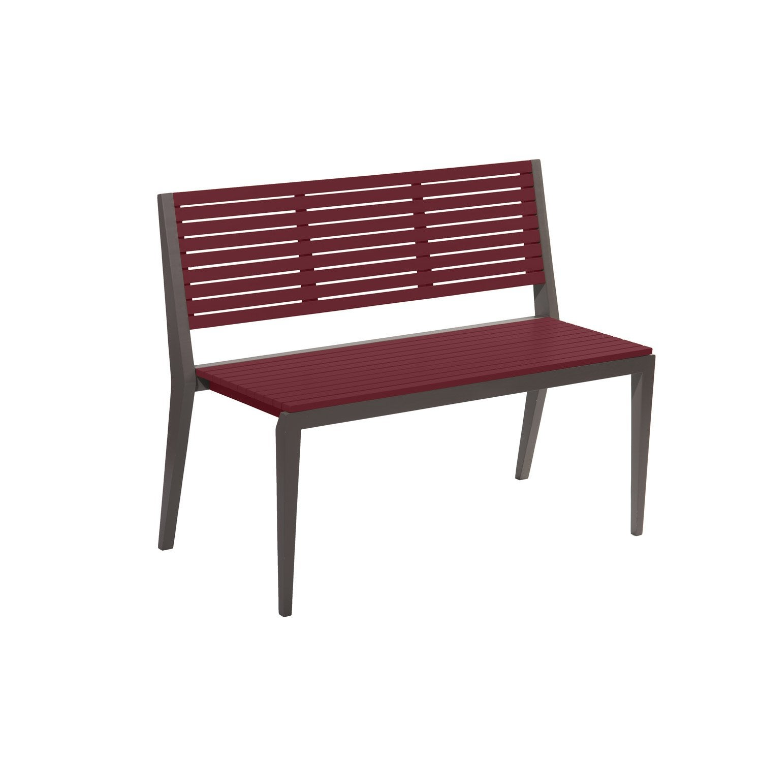 Banc 3 places de jardin en bois portofino rouge basque for Ocultacion jardin leroy merlin