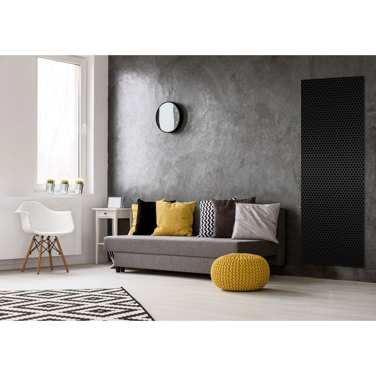 radiateur lectrique rayonnement decowatt velours noir. Black Bedroom Furniture Sets. Home Design Ideas