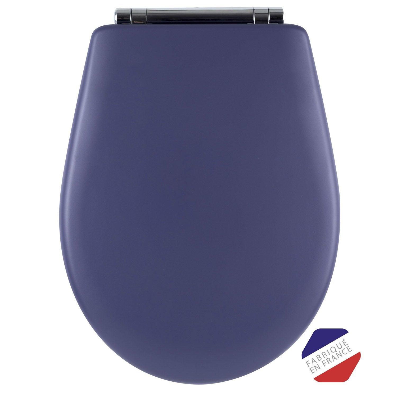 abattant frein de chute d clipsable bleu bois r ticul. Black Bedroom Furniture Sets. Home Design Ideas