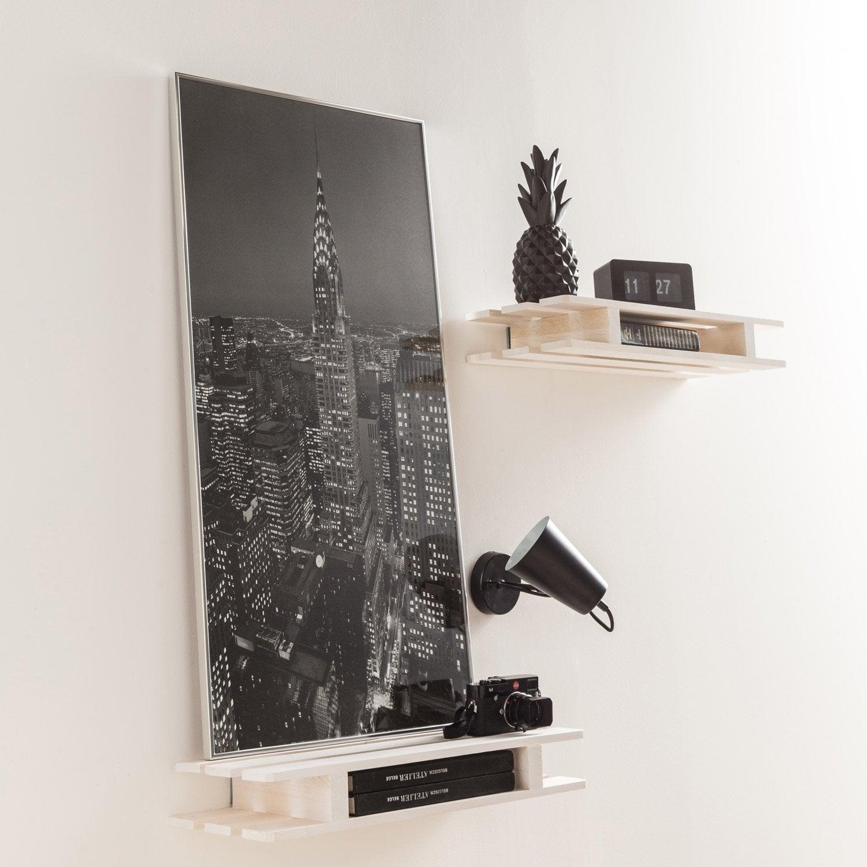 cadre accent 70 x 100 cm argent leroy merlin. Black Bedroom Furniture Sets. Home Design Ideas