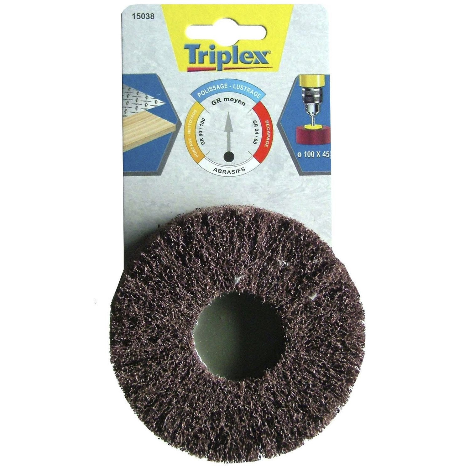 Roue tivoly 100 x 45 mm grains 80 leroy merlin - Leroy merlin scarificateur ...