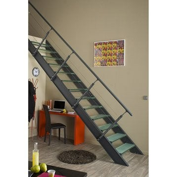 kit de rampe c ble gris fonc pour escalier lisa escapi leroy merlin. Black Bedroom Furniture Sets. Home Design Ideas