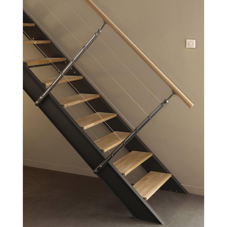 Kit rampe pour escalier lisa escapi leroy merlin - Changer rampe escalier en bois ...