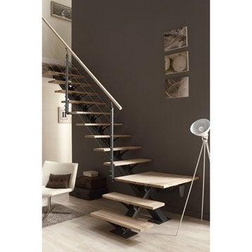Kit de rampe c ble en h tre pour escalier mona escapi leroy merlin - Rambarde escalier leroy merlin ...