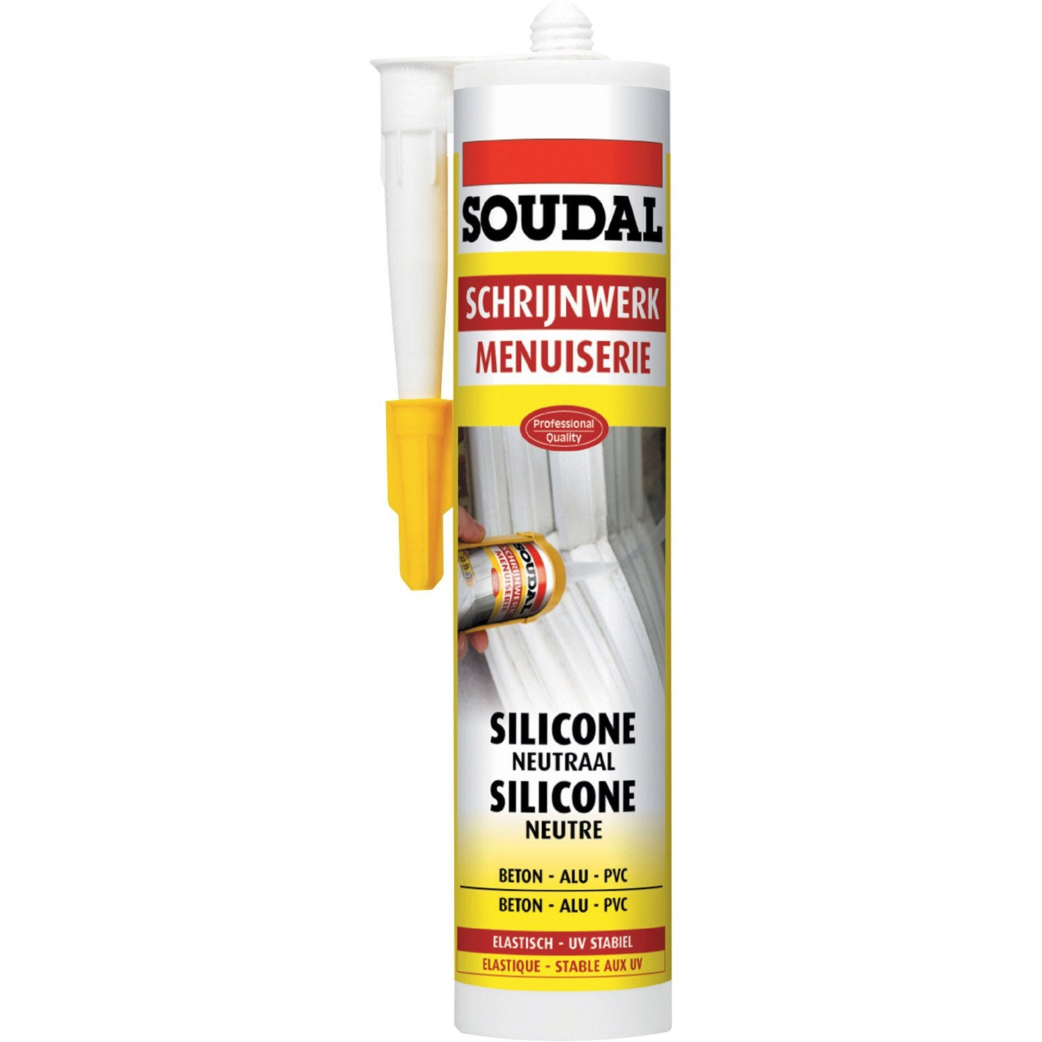 Mastic silicone pour tanch it et finition soudal blanc - Fenetre coulissante leroy merlin ...