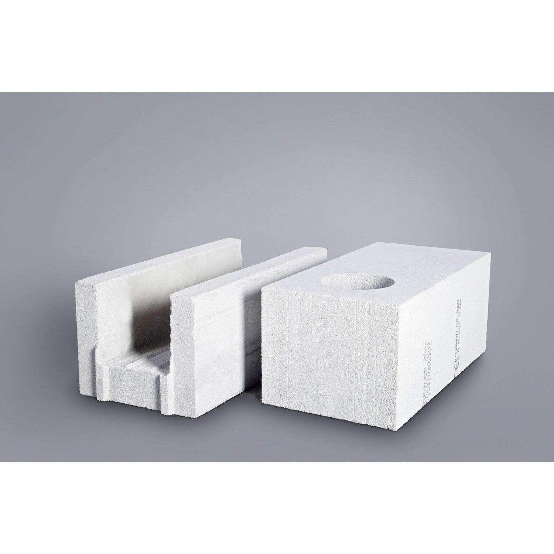 Bloc b ton cellulaire de cha nage cellumat 30x25x60 cm leroy merlin for Prix beton cellulaire