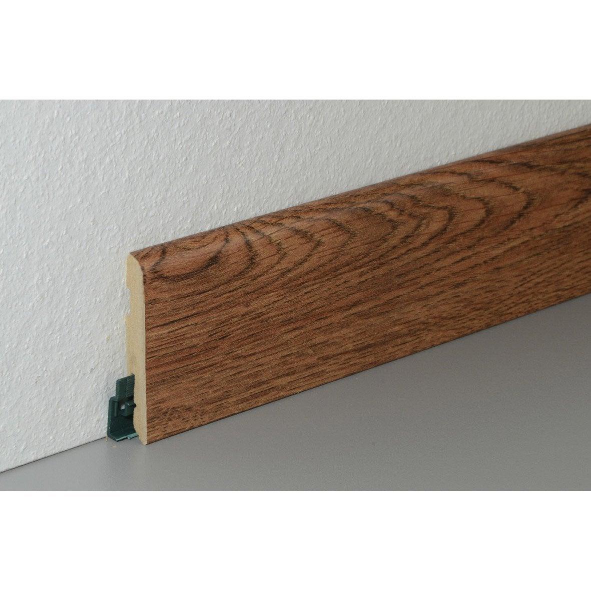 plinthe pour sol stratifi d cor merbau pont de bateau 220 cm x 78 mm x 14 mm leroy merlin. Black Bedroom Furniture Sets. Home Design Ideas