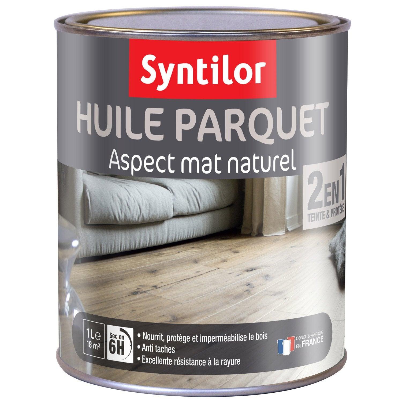 Huile parquet syntilor gris clair 1 l leroy merlin - Huile pour porte qui grince ...