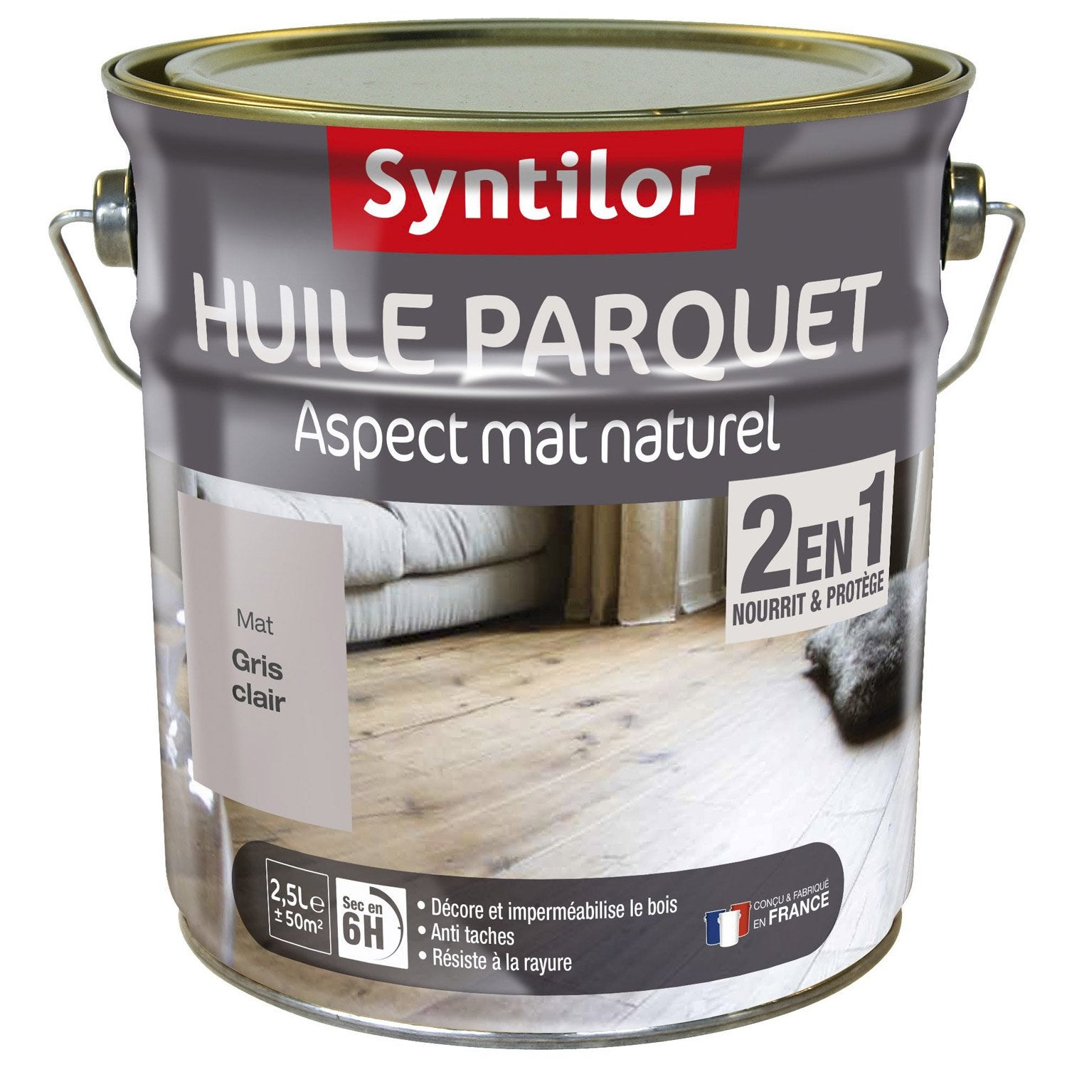 huile parquet syntilor blanc 2 5 l leroy merlin. Black Bedroom Furniture Sets. Home Design Ideas