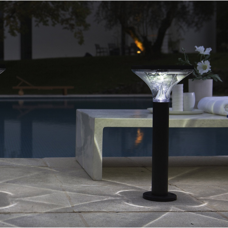 borne solaire ibiza 120 lumens noir inspire leroy merlin. Black Bedroom Furniture Sets. Home Design Ideas