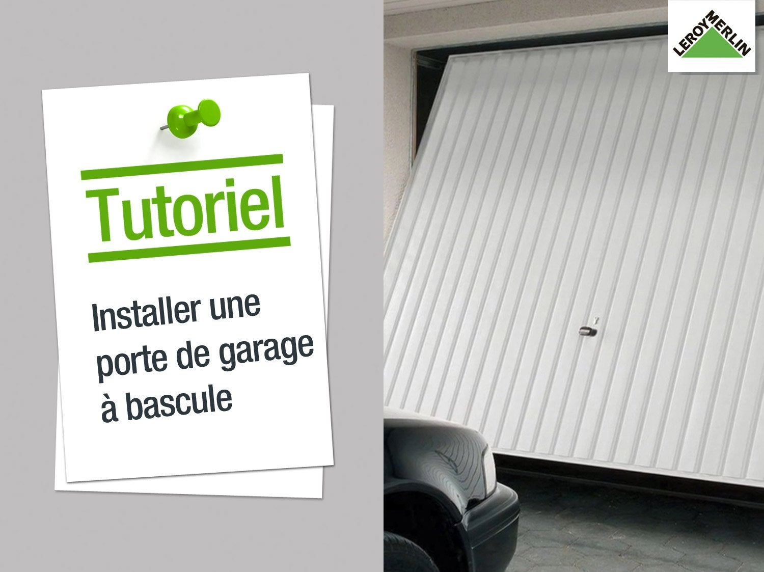 Portail basculant leroy merlin for Installer chatiere porte garage
