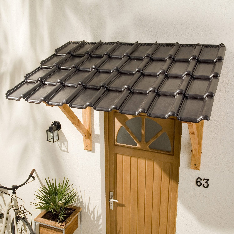 auvent en kit x x cm leroy merlin. Black Bedroom Furniture Sets. Home Design Ideas