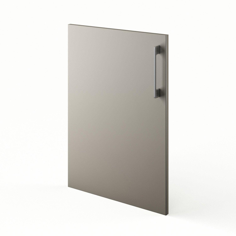Porte de cuisine gris f50 topaze x cm leroy for Porte 70 cm de large
