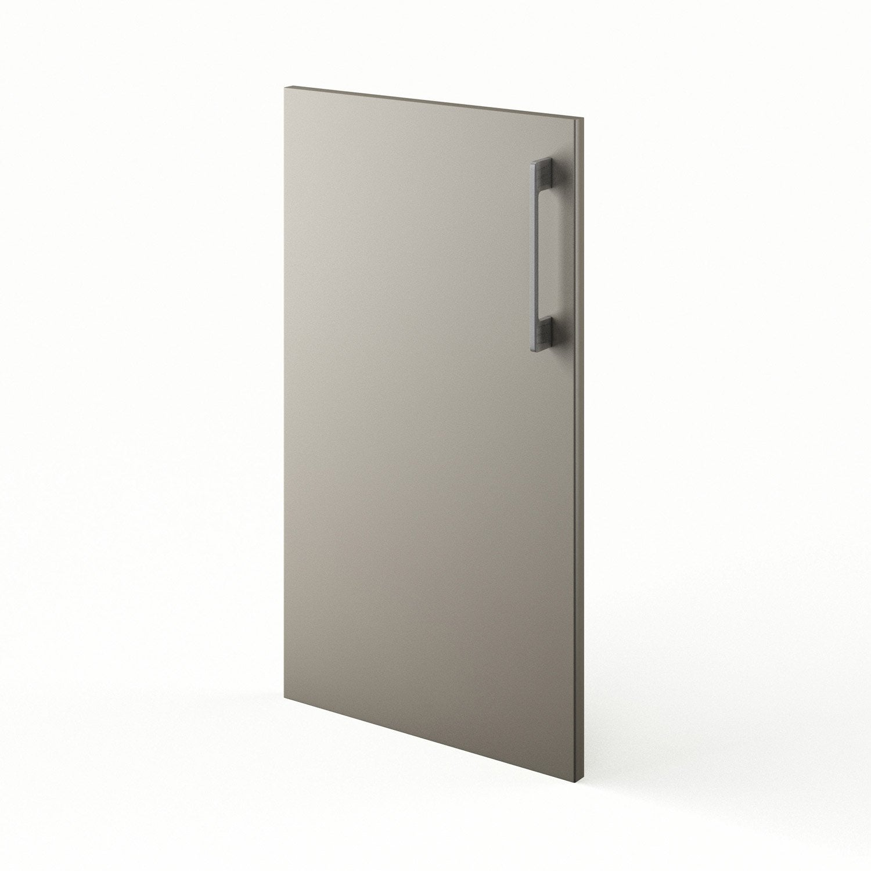 Porte de cuisine gris f40 topaze x cm leroy for Porte de cuisine leroy merlin