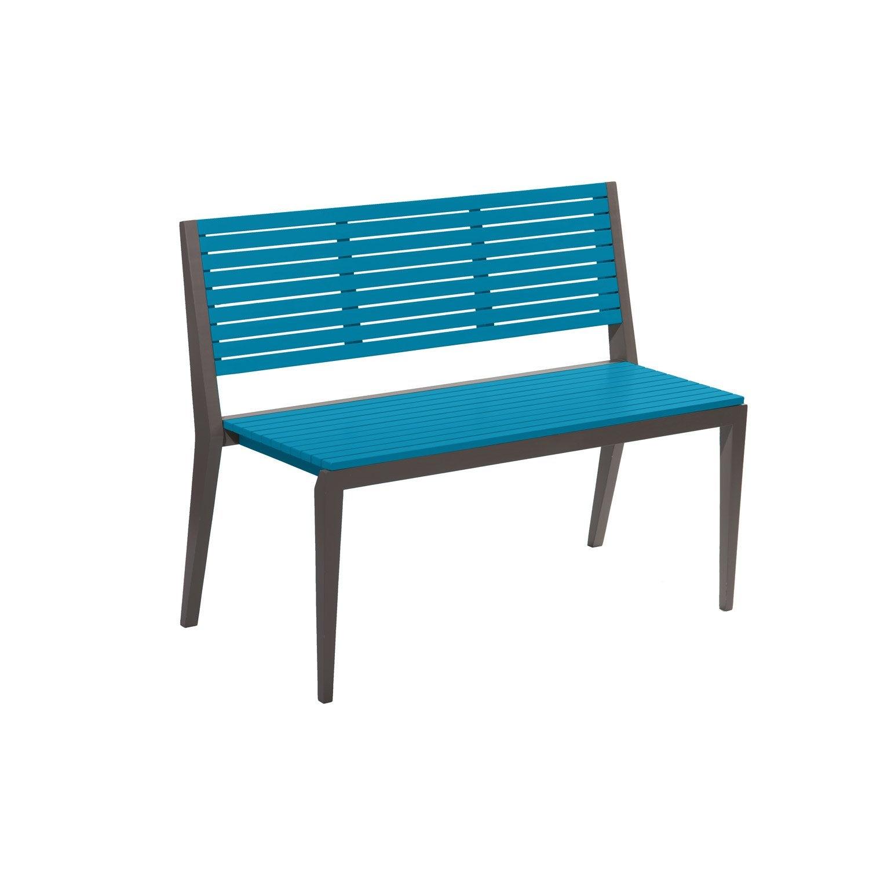 banc 3 places de jardin en bois portofino mer c rul enne leroy merlin. Black Bedroom Furniture Sets. Home Design Ideas