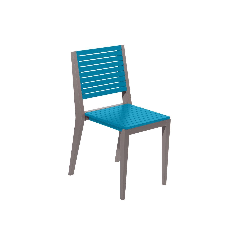 Chaise de jardin en bois portofino mer c rul enne leroy merlin - Chaise de jardin en bois ...