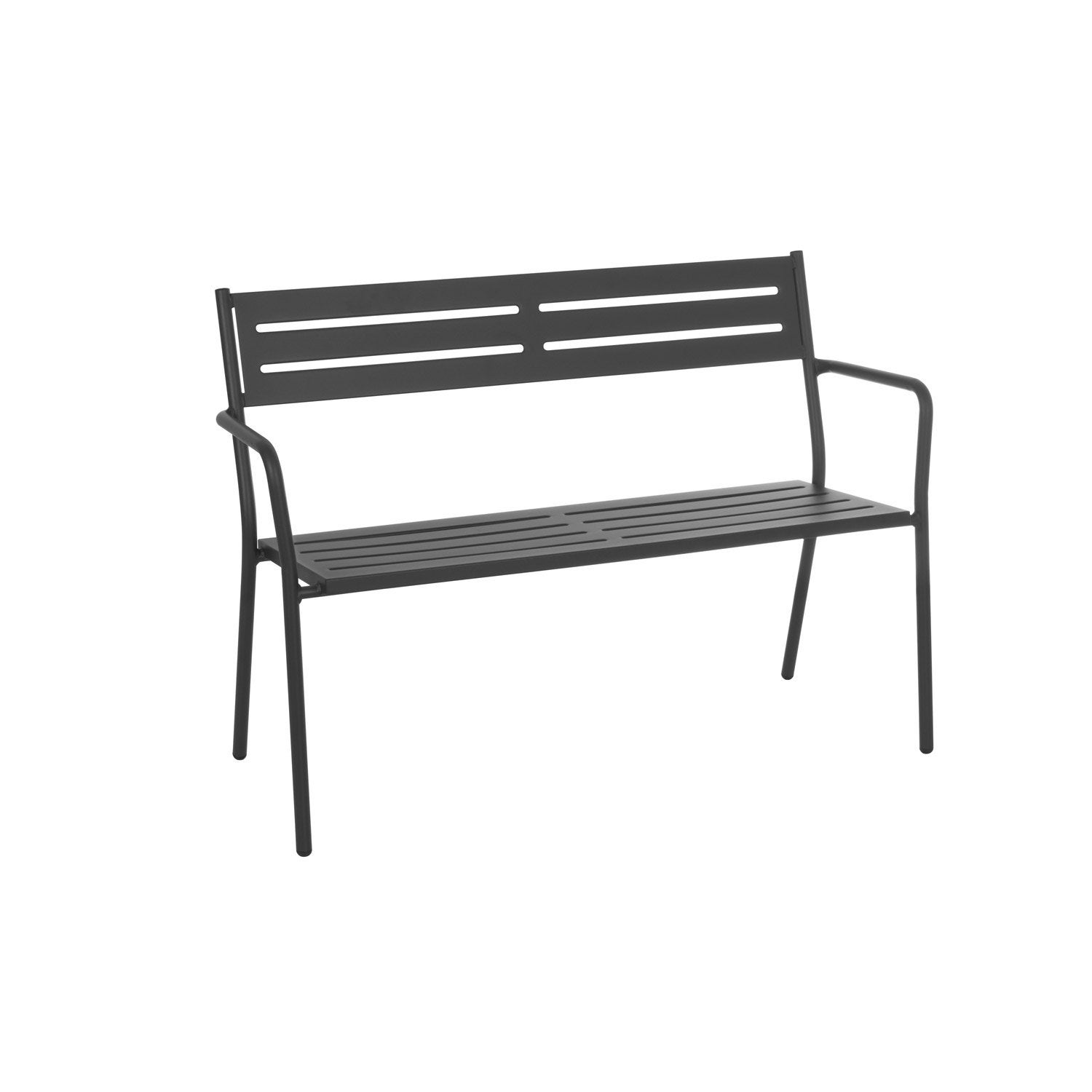 banc 2 places de jardin en acier trevi fer ancien leroy. Black Bedroom Furniture Sets. Home Design Ideas