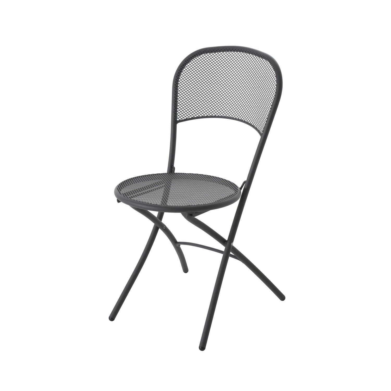 Chaise de jardin en acier voil fer ancien leroy merlin - Chaise pliante leroy merlin ...