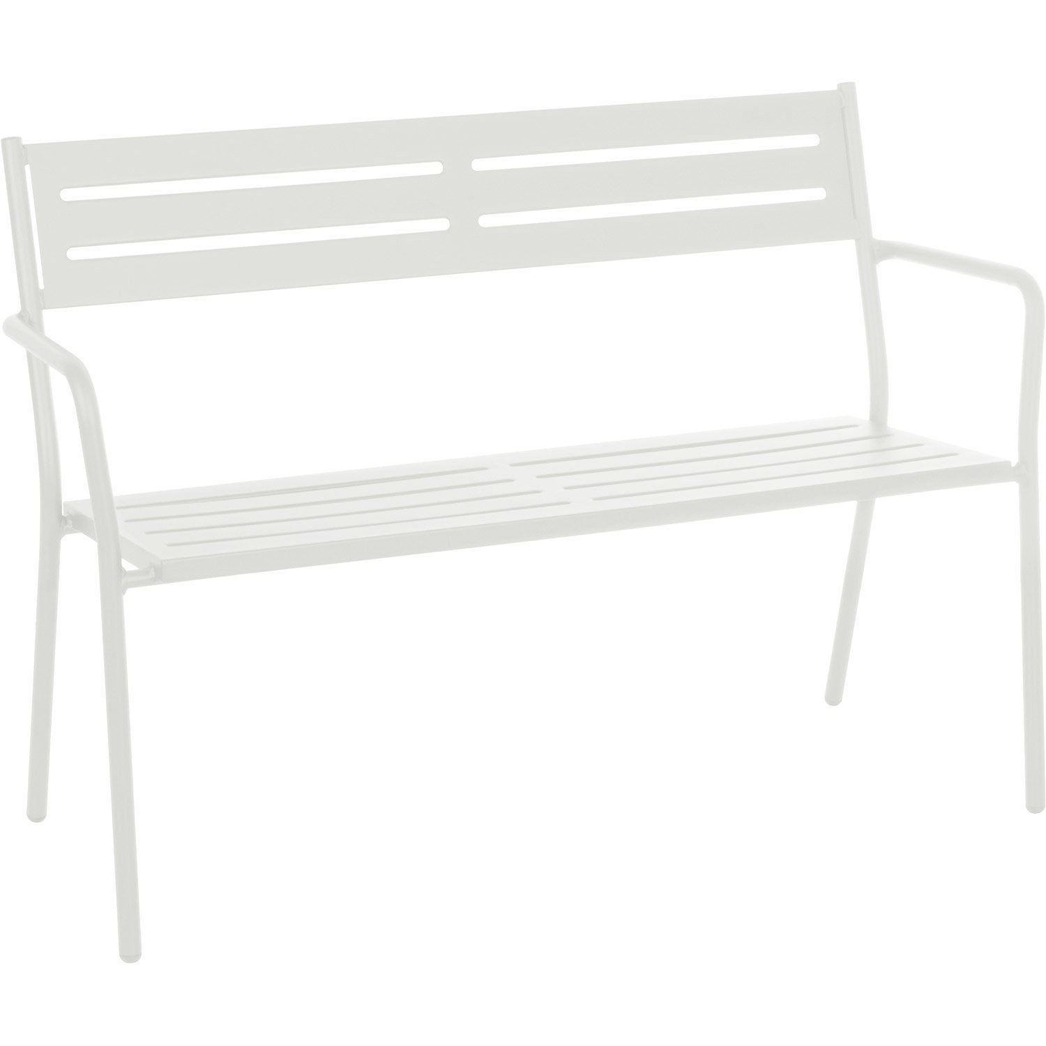 banc 2 places de jardin en acier trevi blanc leroy merlin. Black Bedroom Furniture Sets. Home Design Ideas