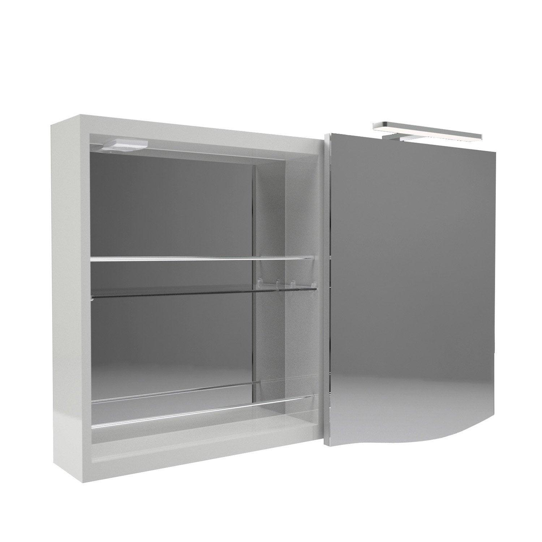 Armoire de toilette armoire avec clairage int gr - Leroy merlin armoire de toilette ...