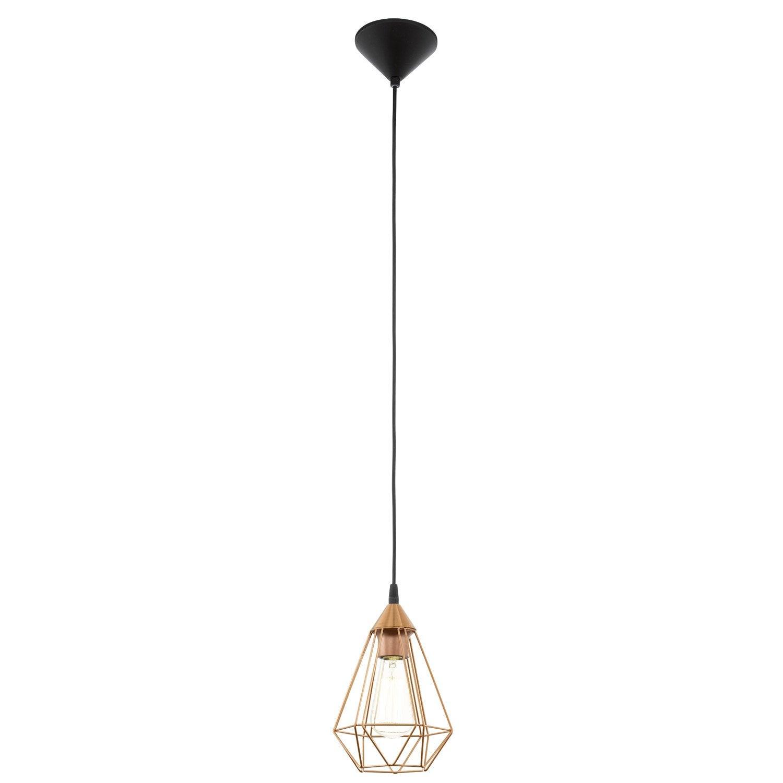 suspension design tarbes m tal cuivre 1 x 60 w eglo leroy merlin. Black Bedroom Furniture Sets. Home Design Ideas