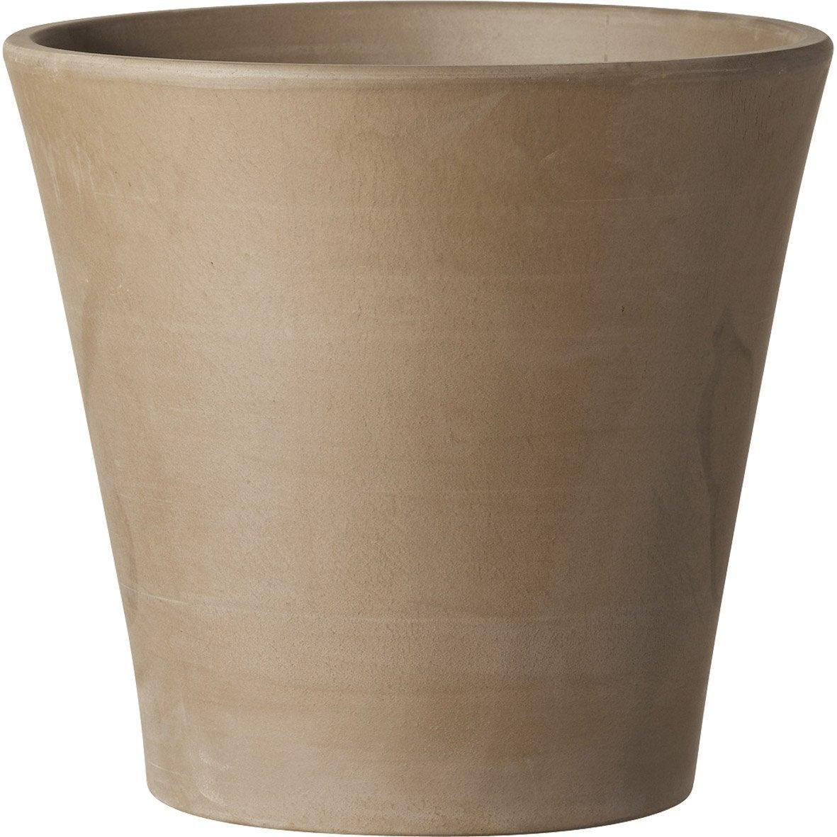 Pot terre cuite deroma x cm chocolat leroy merlin - Pot de fleur lumineux leroy merlin ...