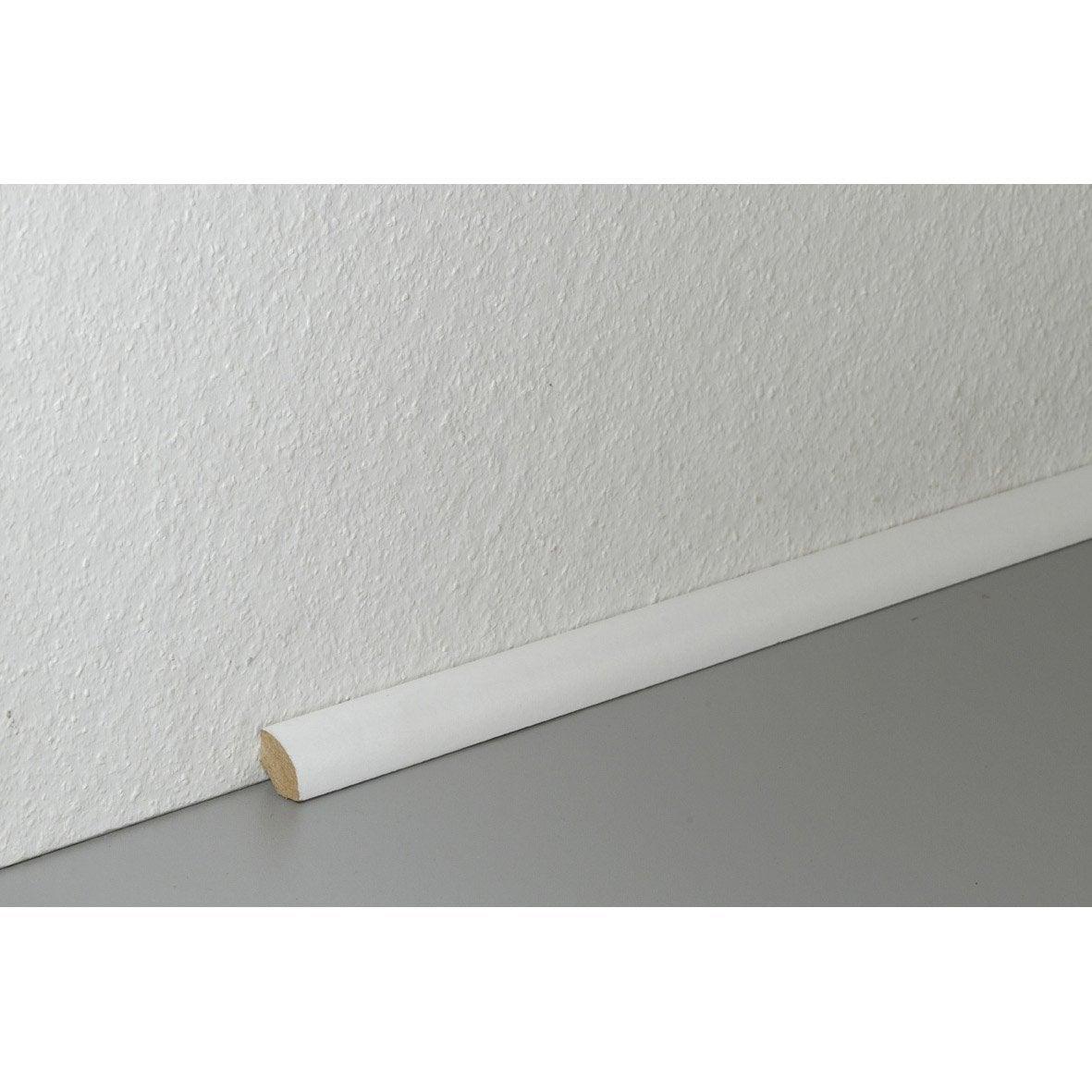 quart de rond sol stratifi blanc cm x x mm leroy merlin. Black Bedroom Furniture Sets. Home Design Ideas