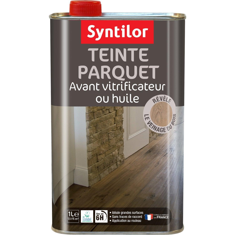 Teinte parquet syntilor 1 l weng leroy merlin - Produit pour vitrifier un parquet ...