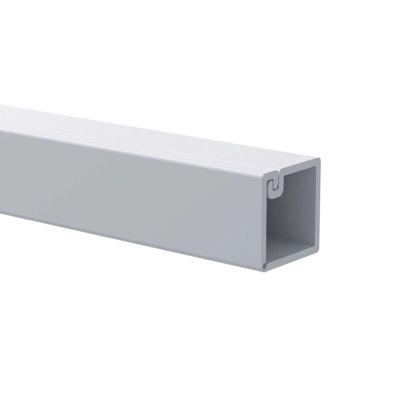 cache c ble pour moulure en pvc blanc l200 x h1 x p1 cm leroy merlin. Black Bedroom Furniture Sets. Home Design Ideas