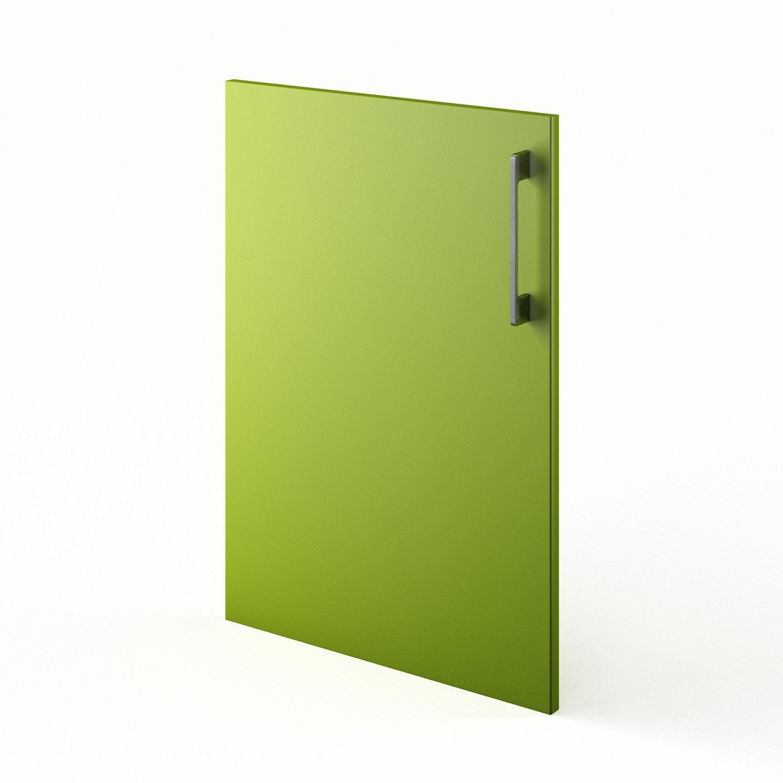 Porte de cuisine vert f50 topaze x cm leroy for Porte de cuisine leroy merlin