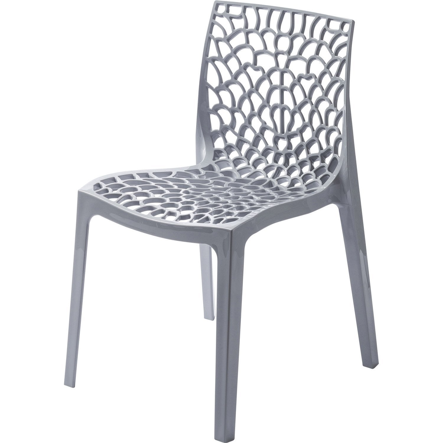 Chaise de jardin en r sine grafik gris perle leroy merlin for Chaise longue leroy merlin