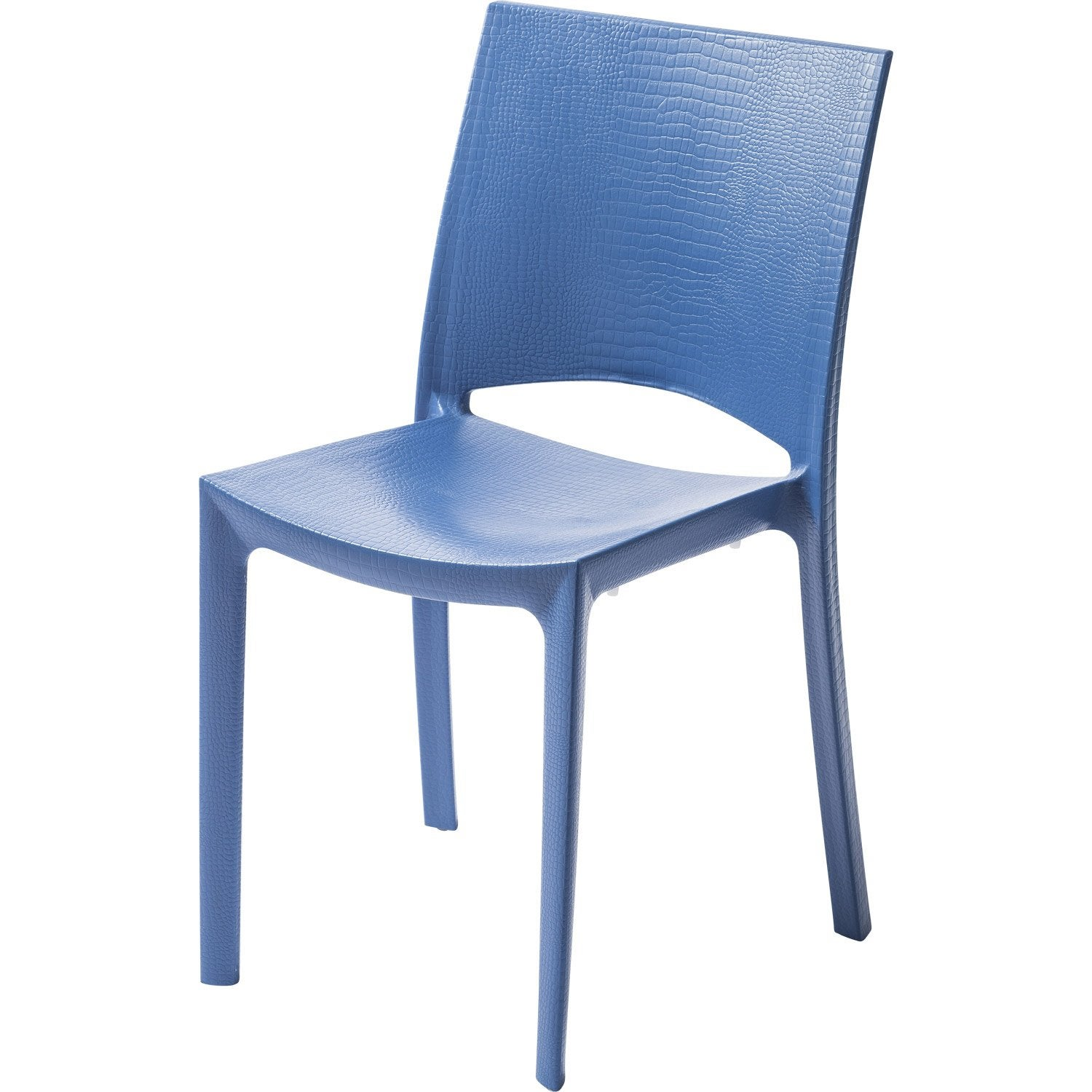 Chaise de jardin en r sine cocco bleu leroy merlin for Table jardin bleu