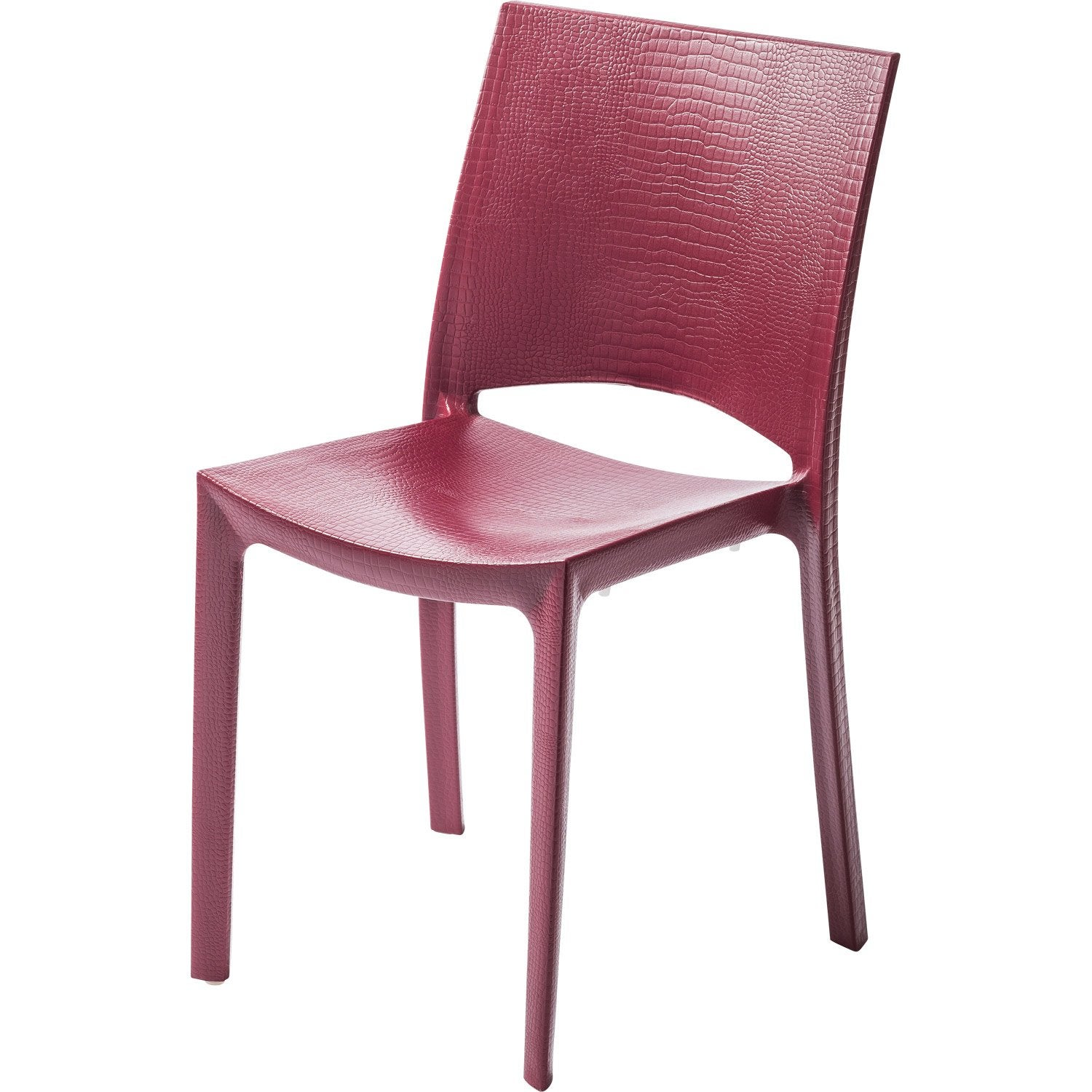 Chaise de jardin en r sine cocco rouge leroy merlin for Chaise jardin