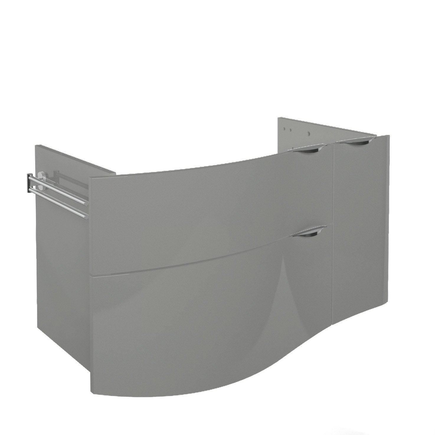 Meuble sous vasque x x cm elegance for Meuble 2 vasques leroy merlin