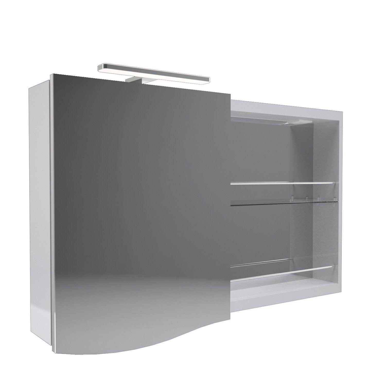 Armoire de toilette armoire avec clairage int gr el gance leroy merlin - Armoire de toilette leroy merlin ...