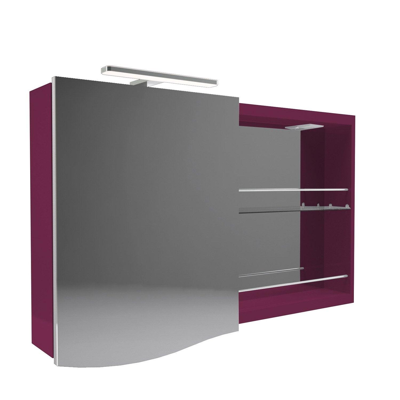Armoire de toilette armoire avec clairage int gr el gance leroy merlin - Leroy merlin toilette ...