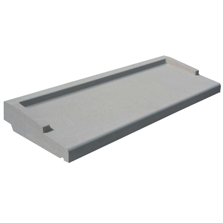 Appui de fen tre standard h 6 x 34 x 130 cm gris leroy for Fenetre standard
