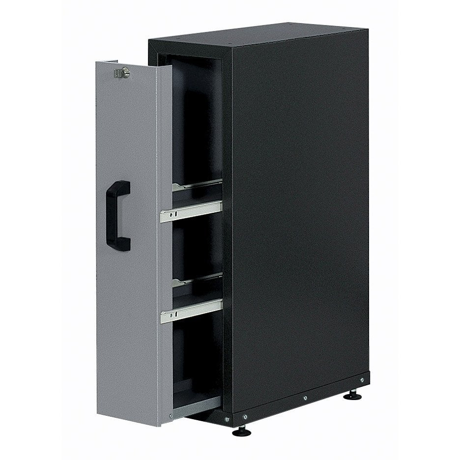 armoire de rangement encastrable en m tal gris clair kupper 23 cm 1 tiroir leroy merlin. Black Bedroom Furniture Sets. Home Design Ideas