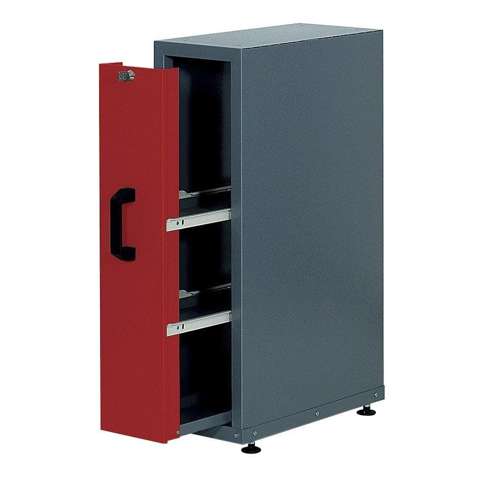 armoire de rangement encastrable en m tal rouge kupper 23 cm 1 tiroir leroy merlin. Black Bedroom Furniture Sets. Home Design Ideas