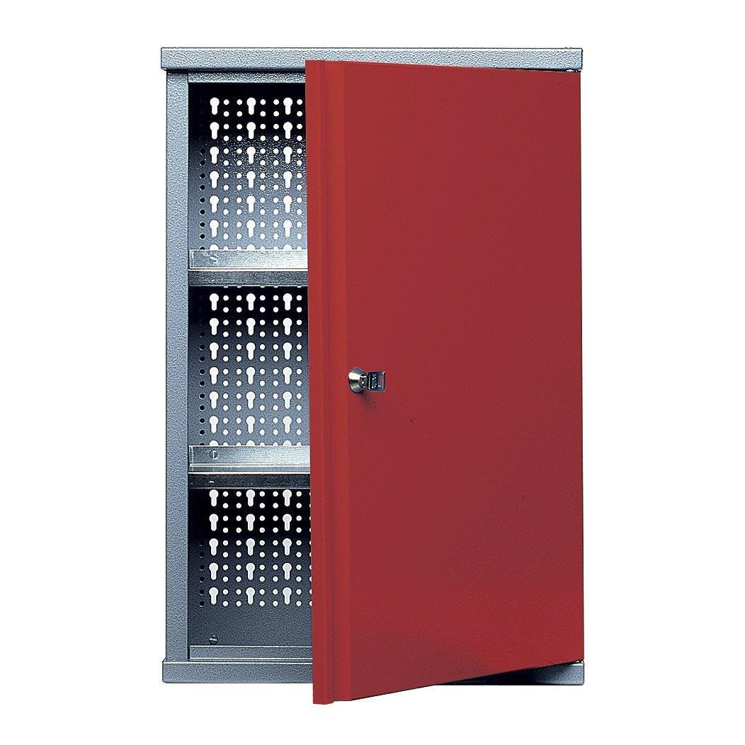 armoire de rangement en m tal rouge kupper 40 cm 1 porte leroy merlin. Black Bedroom Furniture Sets. Home Design Ideas