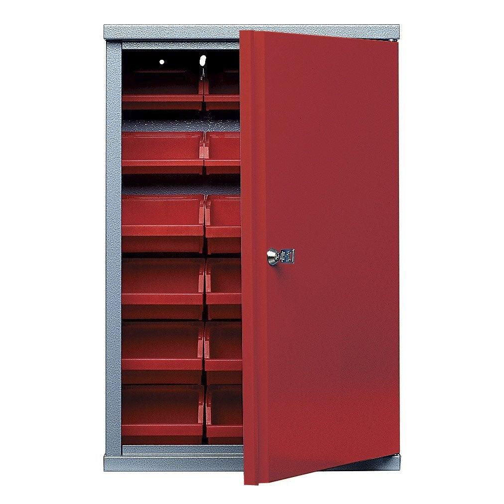 armoire de rangement avec 18 bo tes becs en m tal rouge kupper 40 cm 1 porte leroy merlin. Black Bedroom Furniture Sets. Home Design Ideas