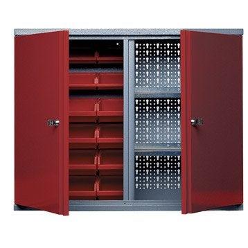 Lit coffre bel n 160 x 200 cm placard concept - Armoire de rangement pour garage ...